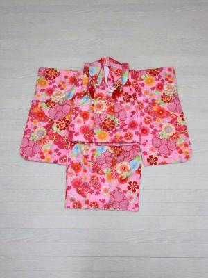 3歳ピンク花柄