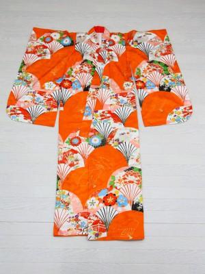7歳着物オレンジ